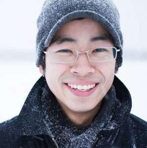 Man in Calgary winter, smiling